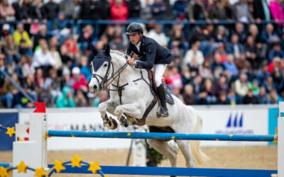 Armin Schäfer Jr, a stylist in the jumping saddle